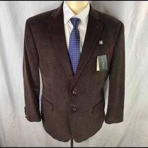 NWT Ralph Lauren brown corduroy jacket. Size 44S.